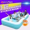 ( ขนาด 12 ฟุต ) JILONG สระน้ำเป่าลมสี่เหลี่ยมผืนผ้าขนาดใหญ่ เล่นน้ำได้หลายคนมาก ขนาด 3.6 เมตร