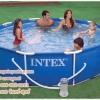 ( ขนาด 10 ฟุต )สระน้ำขนาดใหญ่ Metal Frame Pool w/Filter Pump (305 x 76 cm)