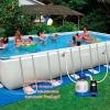 ( ขนาด 24 ฟุต )สระน้ำขนาดใหญ่ Intex Ultra Frame Rectangular Pool Water 24 ฟุต.
