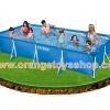 ( ขนาด 15 ฟุต ) สระน้ำขนาดใหญ่ 4.5 เมตร Intex Small Family Frame Pool 4.5m x 2.2m x 0.84m #28273