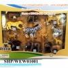 SHP/WEW01001 ชุดโมเดล สัตว์ป่า 12 ชิ้น กล่องใส