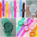 นาฬิกาข้อมือ แฟชั่น Geneva หลากสีสัน สุดน่ารัก