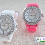 นาฬิกาน่ารักหน้าปัดล้อมเพชร GENEVA สีสันสดใส น่ารัก