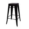 เก้าอี้สตูลบาร์เหล็ก สไตล์โมเดิร์น สำหรับแต่งร้านกาแฟ ร้านอาหาร