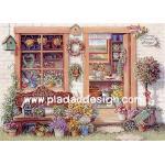 0025 กระดาษอาร์ทพิมพ์ลาย สำหรับทำงาน เดคูพาจ Decoupage แนวภาพ บ้านและสวน ห้องจัดดอกไม้สดๆท่ามกลางสวนสวย (ปลาดาวดีไซน์) A5