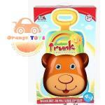รถขาไถและหัดเดิน 4 in 1 รูปหมี สีส้ม