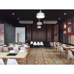 โต๊ะชาบู 4 ขา+เก้าอี้ดีไซน์ขาไม้ สำหรับร้านชาบู (บริการเจาะรูฝังเตาตามขนาด)