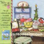 กระดาษอาร์ตพิมพ์ลาย สำหรับทำงาน เดคูพาจ Decoupage แนวภาพ อุปกรณ์เครื่องครัว ทำขนมรับเทศกาลคริสต์มาส สีสวยหวาน (ปลาดาวดีไซน์) A5