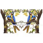กระดาษสาพิมพ์ลาย สำหรับทำงาน เดคูพาจ Decoupage แนวภาพ นกแก้ว เป็นภาพวาดสีน้ำมัน A5