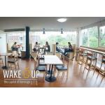 ชุดโต๊ะขาแชมเปญ 2 ที่นั่ง ดีไซน์สวย สำหรับร้านกาแฟ ร้านอาหาร (T-SET)