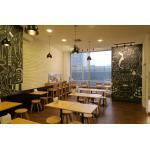 โต๊ะขาแชมเปญ+เก้าอี้กาแฟขาโค้ง สำหรับร้านอาหาร (SL-SET)