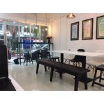 ม้านั่งเบาะนุ่มนั่งสบาย ดีไซน์สวย สำหรับแต่งร้านกาแฟ ร้านเบเกอรี่