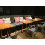 โต๊ะกาแฟไม้จริง สไตล์โมเดิร์น เหมาะสำหรับร้านกาแฟ ร้านเบเกอรี่ (SZ-CAFE)