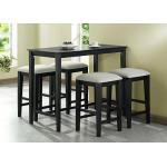 โต๊ะบาร์พร้อมเก้าอี้สตูลสูง ดีไซน์สวย สีโอ๊ค (สั่งทำ 10 ชุดขึ้นไป)