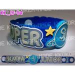 [พร้อมส่ง] สายรัดข้อมือ Super Junior Wristband แบบ 04 +Photocard