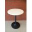 โต๊ะกลมไม้จริง สีขาว ขาแชมเปญสีดำ สำหรับร้านอาหาร ร้านกาแฟ thumbnail 1