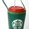 แก้วเก็บความเย็น สะดวกสบายด้วยหูหิ้ว ลาย Starbuck บนพื้นเขียว เก็บความเย็นได้กว่า 5 ชั่วโมง