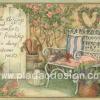 กระดาษอาร์ตพิมพ์ลาย สำหรับทำงาน เดคูพาจ Decoupage แนวภาำพ friendship เก้าอี้สวยๆสีหวานๆ ริมสวนสวยตัวนี้มีไว้สำหรับเพื่อนๆทุกคน ยินดีต้อนรับ (ปลาดาวดีไซน์)