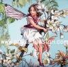 กระดาษสาพิมพ์ลาย สำหรับทำงาน เดคูพาจ Decoupage แนวภาำพ ภาพวาด Fairy Story นางฟ้ามีปีก ตัวน้อย หน้าสวยนั่งเล่นชิวๆ อยู่บนต้นไม้ (ปลาดาวดีไซน์)