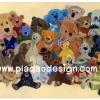 กระดาษเดคูพาจพิมพ์ลาย สำหรับทำงาน เดคูพาจ Decoupage งานฝีมือ งาน Handmade แนวภาพ ภาพวาด ภาพรวมหมู่น้องหมี ทั้งเท็ดดี้ แบร์ teddy bear ทั้งหมีแพนด้า เป็นภาพวาดสีน้ำ (ปลาดาว ดีไซน์)