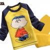ชุดเซ็ทเด็ก เสื้อแขนยาวคอกลม + กางเกงขายาว สไตล์เกาหลี (ผ้าหนา) ขนาด130