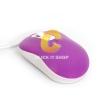 Mouse USB OKER (MS-22) Purple/White