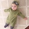 บอดี้สูทนักบินพร้อมหมวก น่ารัก เนื้อนุ่มใส่สบาย