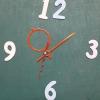 ชุดตัวเครื่องนาฬิกาญื่ปุนเดินเรียบ เข็มลายโมเดิน ขนาดกลาง เข็มสั้น-เข็มยาวสีส้ม เข็มวินาทีสีแดง อุปกรณ์ DIY
