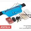 GB126 กระเป๋าคาดเอวใส่ออกกำลังกาย ปั่นจักรยาน ไปฟิตเนต หรือพกไว้เดินทางท่องเที่ยว ยี่ห้อ Rimix ตัวกระเป๋าเนื้อผ้ากันน้ำ สามารถใส่มือถือ มีช่องใส่หูฟัง ใส่กุญแจรถ กุญแจบ้าน หรือของใช้ต่างๆ สายเข็มขัดมีความยีดหยุ่น สามารถปรับขนาดได้ ตามรูปร่าง สินค้าคุณภาพ