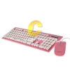 Keyboard+Mouse OKER (KM-2068) Pink