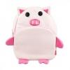 กระเป๋าเป้คุณหนู Linda มาใหม่ ลายหมูน้อย สีชมพู สีสันสดใส น่ารัก ทำจากวัสดุ PVC คล้ายหนัง