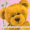กระดาษสาพิมพ์ลาย Rice Paper สำหรับทำงาน เดคูพาจ Decoupage แนวภาพ หมี เท็ดดี้ Teddy bear กับดอกไม้สีขาว บนพื้นสีชมพู ปลาดาวดีไซน์