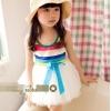 ชุดแฟชั่นเด็ก เสื้อเสายรุ้ง กระโปรงขาว ดีไซน์เก๋ น่ารัก ผ้าเนื้อนุ่ม ใส่สบาย สไตล์เกาหลี -ขนาด140( 13 )