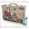 กล่องเก็บของ ทรงกระเป๋าเดินทาง แบบวินเทจ ลาย ปารีเซียนสุดหวาน ขนาดกลาง M