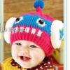 หมวกไหมพรม ตกแต่งคลายใส่ซาวเบ้าท์ น่ารักสไตล์เกาหลี มี7 สี