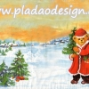 กระดาษสาพิมพ์ลาย สำหรับทำงาน เดคูพาจ Decoupage แนวภาพ หมี Teddy หมีแซนต้าครอส แบกของขวัญ บนทุ่งหิมะ ภาพโทนครีสส้ม