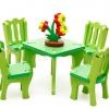 ของเล่นไม้โมเดลไม้ 3D จำลองเฟอร์นิเจอร์ ชุดโต๊ะเก้าอี้