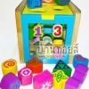 ของเล่นเสริมพัฒนาการ กล่องไม้กิจกรรมหยอดบล็อก+ราวตัวเลข