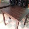 โต๊ะท็อปไม้สักขาตะเกียบ