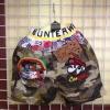 กางเกงแฟชั่นขาสั้นลายทหาร น่ารัก สไตล์เกาหลี