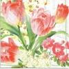 แนวภาพดอกไม้ เป็นภาพดอกทิวลิปเต็มแผ่น กระดาษแนพกิ้นสำหรับทำงาน เดคูพาจ Decoupage Paper Napkins ขนาด 33X33cm