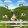 กระดาษสาพิมพ์ลาย สำหรับทำงาน เดคูพาจ Decoupage แนวภาพ แมวคาวบอย หนุ่มเลี้ยงวัวในฟาร์ม