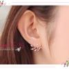 WT079 ตุ้มหู ต่างหูสีทอง ทรงสวย ประดับด้วยเพชร สวยหรู แบบแป้นเสียบคะ