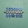 ชุดตัวเลขสำหรับประกอบนาฬิกา สีน้ำเงินขอบดำ ตัวเลขสูง 9มม อุปกรณ์ DIY