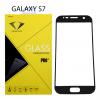 Diamond ฟิล์มกระจกนิรภัย ฟิล์มกันรอยมือถือ Samsung S7 เต็มจอ สีดำ