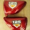 ฝากระเป๋า CG125 สีแดง เทียม งานใหม่