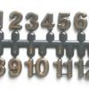 ชุดตัวเลขสำหรับประกอบนาฬิกา ตัวเลข สีทองขอบดำ ตัวเลขสูง 9มม. อุปกรณ์ DIY