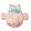 บอดี้สูทสีชมพูจุดเหลืองใหญ่ สไตล์ลูกกวาด candy เนื้อผ้านิ่ม cotton100 %