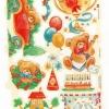 กระดาษตัดสำเร็จ ลายนูน ภาพเดี๋ยว แนววินเทจ เจ้าหมีน้อยเท็ดดี้แบร์ กับ เหล่าของขวัญ ลูกโป่ง มากมายหลายแบบ