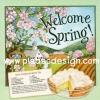 กระดาษอาร์ทพิมพ์ลาย สำหรับทำงาน เดคูพาจ Decoupage : Cooking Series - Sour Cream Lemon Pie